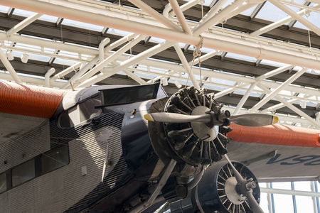 warbirds: Classic air plane propeller on display at smithsonian museum Editorial