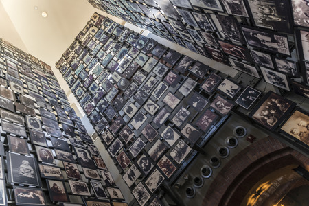 holocaust: Picture of people victims during holocaust inside the museum