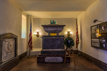 institutions: The final resting place of the Institutions benefactor, James Smithson (1765-1829), is a small chapel-like room located at the north entrance to the Castle.