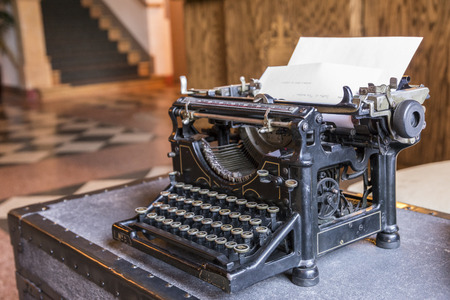 type writer: Old classic type and antique type writer