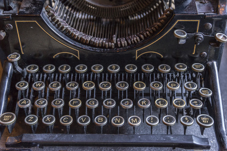 writer: Old classic type and antique type writer