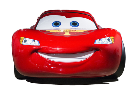 The star of pixar movie Cars, Lightning Mcaquuen Editorial