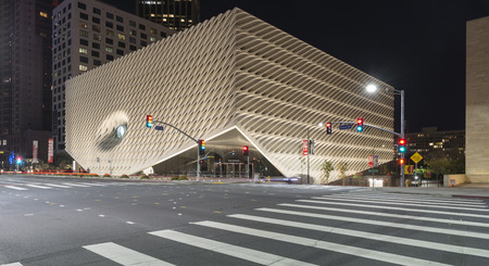 The Broad  is a contemporary art museum in Downtown Los Angeles. The museum is named for philanthropist Eli Broad, who is financing the $140 million building which houses the Broad art collections.