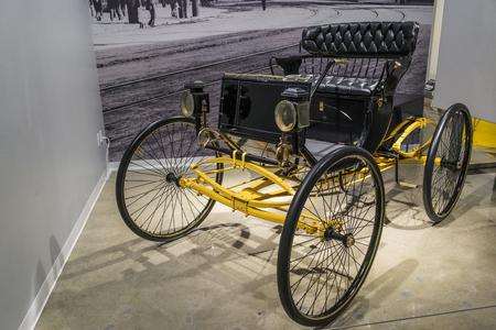 london to brighton: A 1900 locomobile steeam run about classic car Editorial