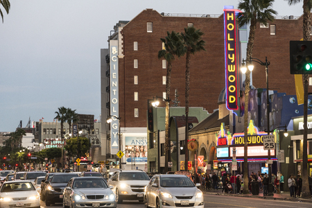 hustle: The hustle and bustle street of hollywood blvd.