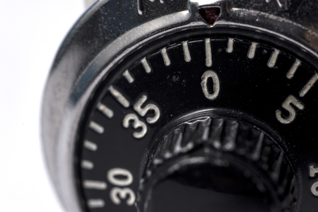 combination: A close up shot of a combination lock