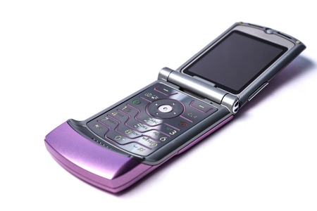 flip phone: A classic slim and thin flip phone technology