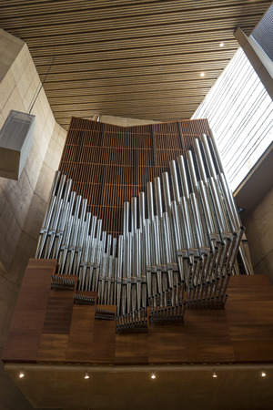 hymn: Pipe organ at Cathedral of City of Angle