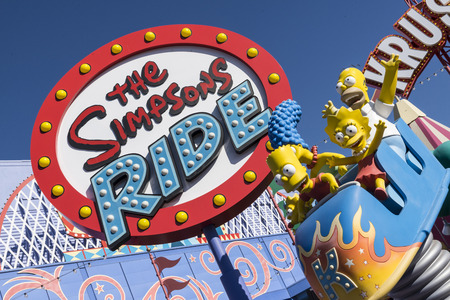 The Simpsons ride at Universal studio california USA