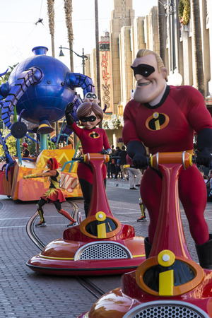 superpowers: The incrediblescharacters parading in Desney theme park Editorial