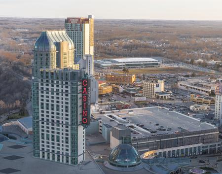 niagara falls city: An aerial falls view casino at Niagara falls.