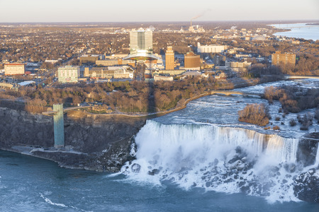 american falls: an aerial of of American falls from skylon tower