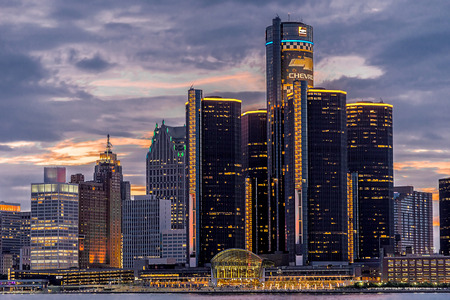 Skyscrapers at Detroit United state of America.