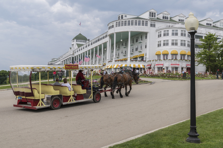 The Grand Hotel is a historic hotel and coastal resort on Mackinac Island, Michigan, a small island located at the eastern end of the Straits of Mackinac within Lake Huron between the states Upper and Lower peninsulas. Constructed in the late 19th centur
