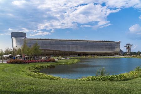 Eine volle Größe von Arche Noah auf dem Display bei der Arche Begegnung.