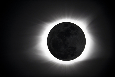 The great american eclipse . Stock Photo