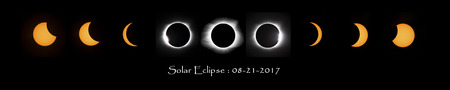 stages of solar eclipse, and transition during maximum eclipse