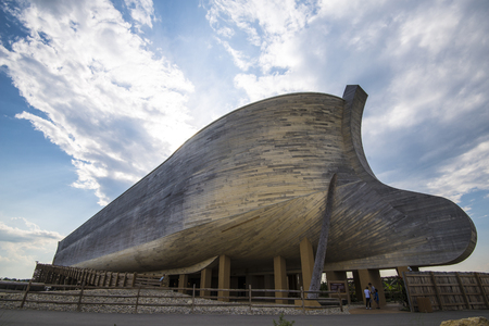 Ark Encounter is a Christian evangelical and fundamentalist theme park that opened in Grant County, Kentucky on July 7, 2016.[2][3] The centerpiece of the park is a full-scale model of Noahs Ark as described in the Genesis flood narrative of the Bible. I