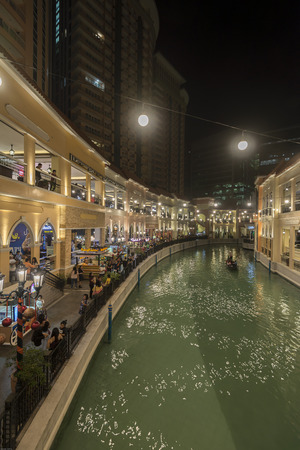 Gondola canal at Venice grand canal mall in Taguig philippines Editorial