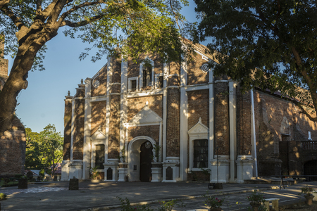 The Santa Monica Parish Church, commonly known as the Sarrat Church, is a Roman Catholic parish church in Barangay San Leandro, Poblacion, Sarrat, Ilocos Norte, Philippines.