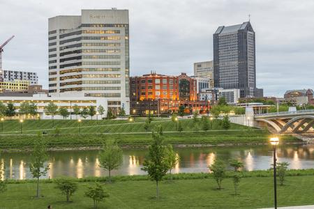 Buildings across Sciotto River at Columbus Ohio.