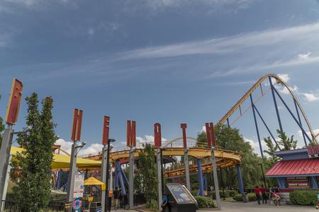 Behemoth Roller coaster at Canadas wonderland Toronto Editorial
