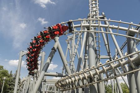 a roller coaster ride at Canadas wonderland on Toronto