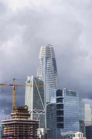 Modern Skyscraper at down town San Francisco USA. Banco de Imagens
