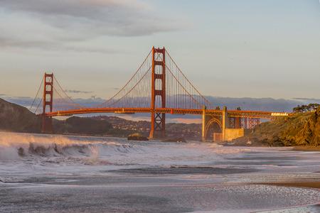 The iconic Gloden Gate bridge of San Francisco California. Stock fotó