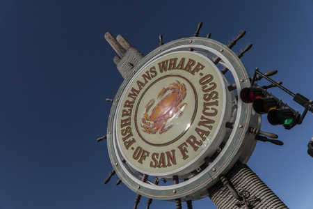 The ever famouse Fishermans wharf at Pier 39 San Francisco Calif.