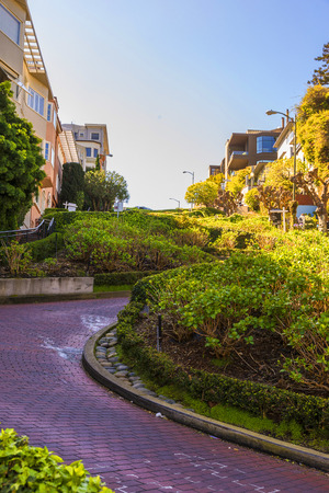 Lombard street San Francisco, the most crooked street in the world. 版權商用圖片