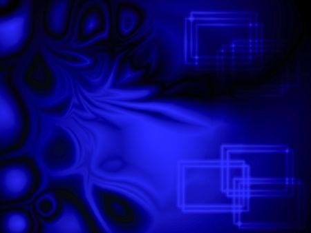Blue plasma and rectangle shapes background photo