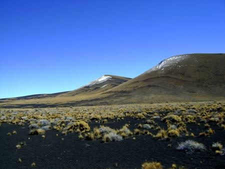 La Payunia의 화산 스톡 콘텐츠