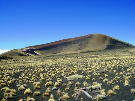 La Payunia에있는 화산 La Herradura
