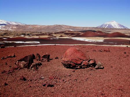 Payunia 화산 회로, 진흙 화산 폭탄 스톡 콘텐츠