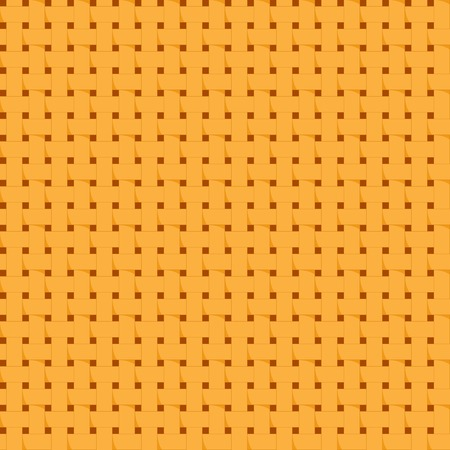 Repeating tile of background texture with woven straw Vector