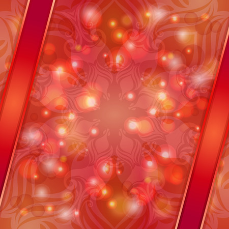 Red vintage abstract background. Can be used for banner, invitation, wedding card or scrapbook and others.  Vector