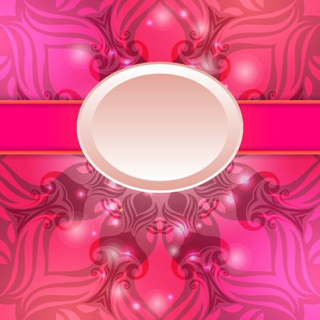 Pink vintage abstract background. Can be used for banner, invitation, wedding card or scrapbooking and others. Royal design element Vector