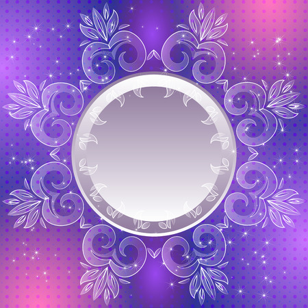 Violet vintage abstract background. Can be used for banner, invitation, wedding card or scrapbooking and others. Royal design element Vector