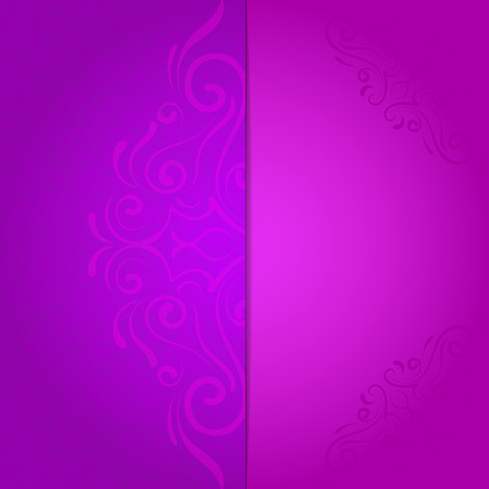 background for invitation with violet floral pattern Vector