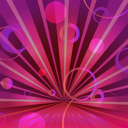 Abstract burgundy background with circles and radiating Vector