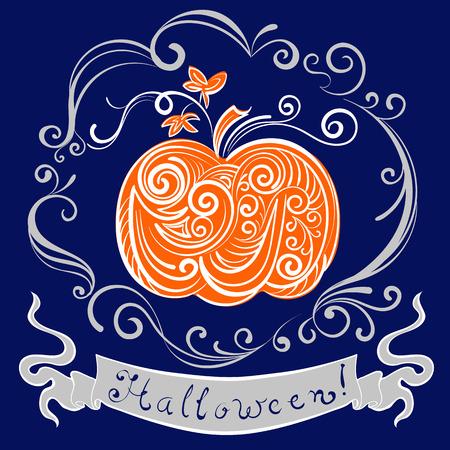 all saint day: lace pumpkin for hallowmas
