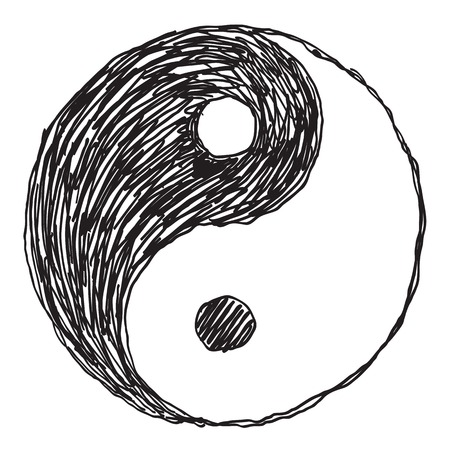 dao: ying yang monada of dao Illustration