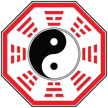 dao: isolate vector feng shui ba gua diagram for your design