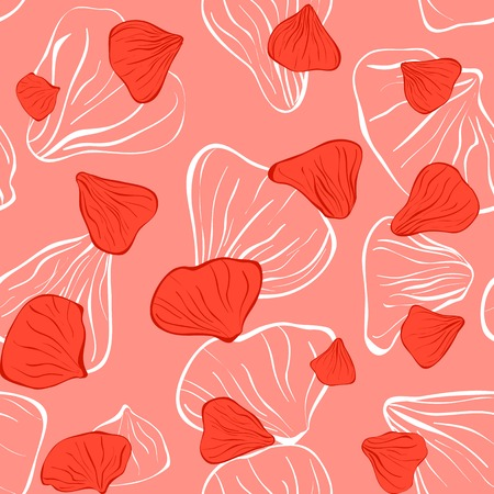 petal: pink seamles with flower petal for background or textile