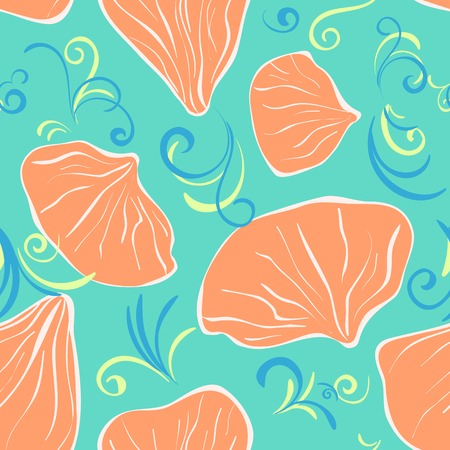 petal: color seamles with flower petal for background or textile Illustration