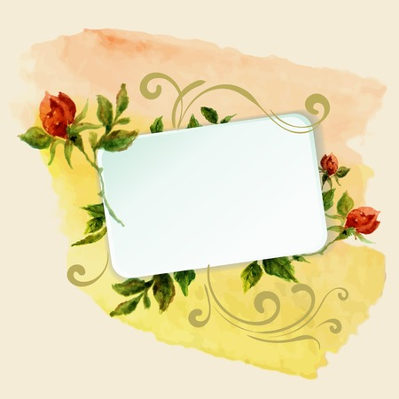 aquarelle: aquarelle frame with roses