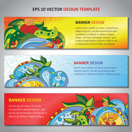 Abstract vector decorative waves ornamental backgrounds. Series of image Template frame design for card.