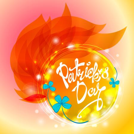 Saint Patricks Day background. Vector illustration for spring design