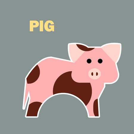 Farm animal pig simple